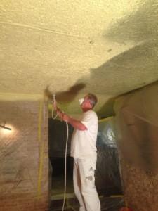 Airless spuiten plafond restaurant